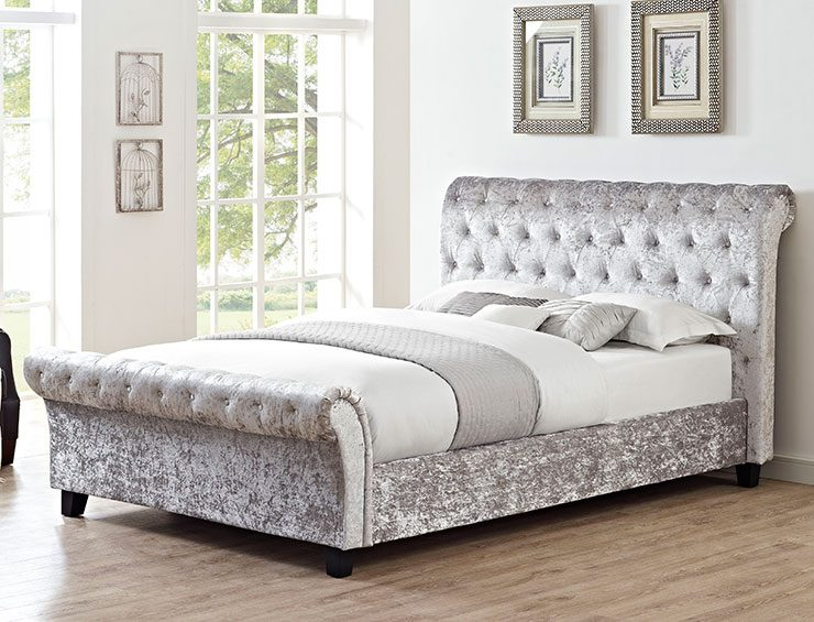 Pay Per Week Carpets And BedsMonica Crushed Velvet Bed Frame - Pay ...