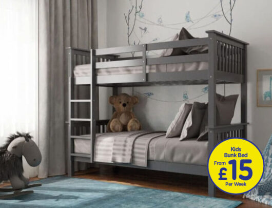 Brunel Grey Bunk Bed