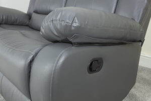 Empire Pigeon Grey 2 Seat Recliner Sofa