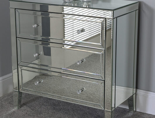 Ibiza Mirrored 3 Drawer Chest
