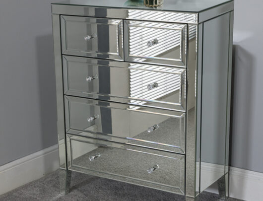 Ibiza Mirrored 5 Drawer Chest