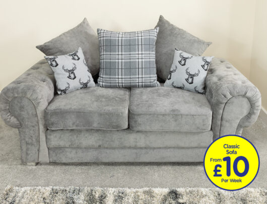 Juliet Dove Grey 2 Seater Sofa