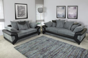 Mason Slate Grey Sofa Set