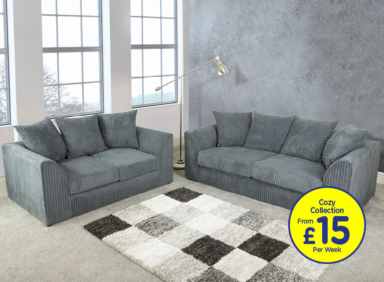 Ronan Slate Grey Sofa Set